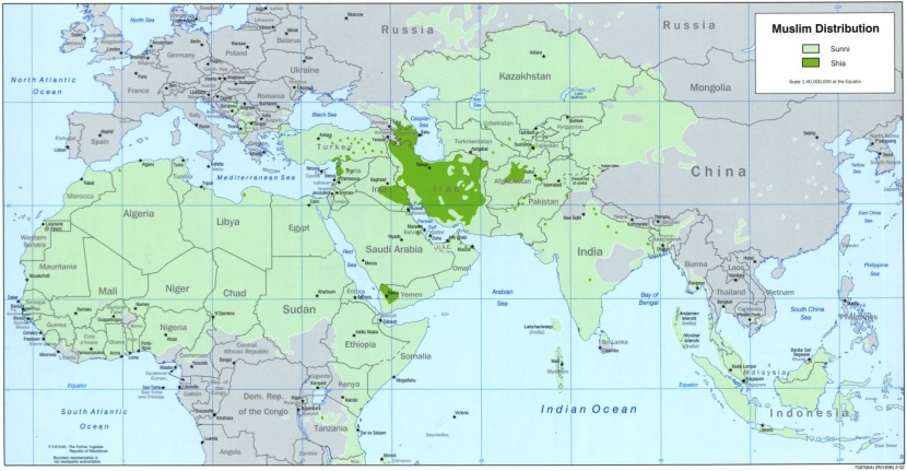 Sunni and Shia muslims by country